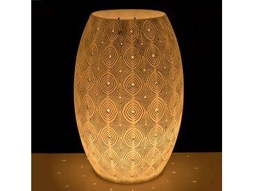 Lampe à poser en résine blanche à motifs H42cm Alinéa