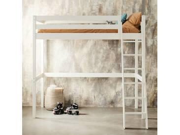 Lit mezzanine 1 place Blanc avec sommier - 90x200 cm Alinéa