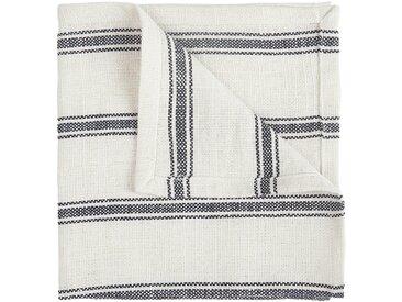 Lot de 2 serviettes de table en lin et coton noir et blanc 41x41cm (prix unitaire : 3.0 euros) Alinéa