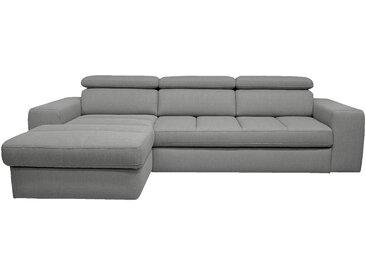 Canapé d'angle gauche convertible en tissu gris clair Alinéa