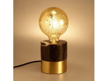 Lampe en métal et marbre noir D11xH12cm Alinéa