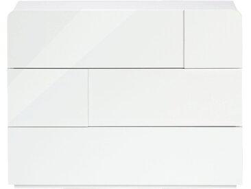 Commode blanc laqué 3 tiroirs Alinéa