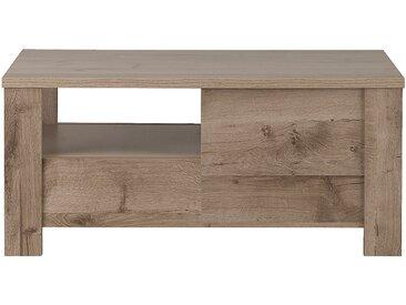 Table basse bicolore avec 2 tiroirs Alinéa