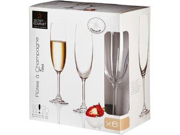 Lot de 6 flûtes à champagne en cristallin Alinéa