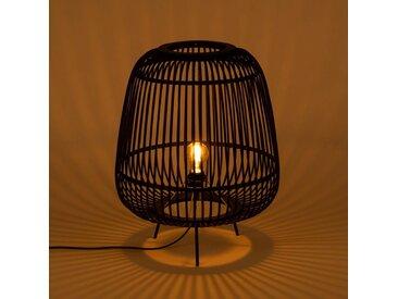 Lampe à poser en bambou noir D42xH53cm Alinéa