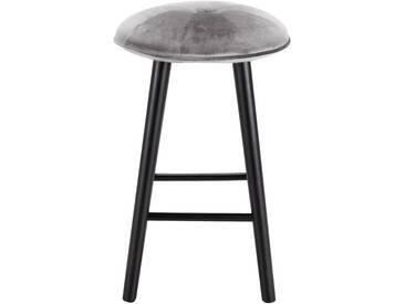 Tabouret de bar en velours gris borie - H66cm Alinéa