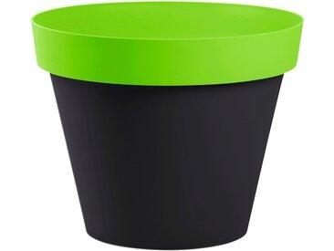 Cache-pot gris et vert en plastique H40xD48cm Alinéa