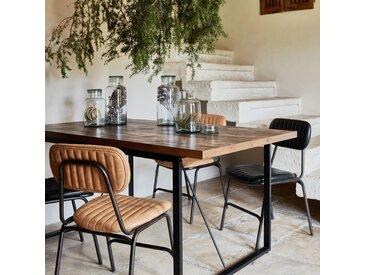 Table de repas rectangulaire effet bois et acier - 6 places Alinéa