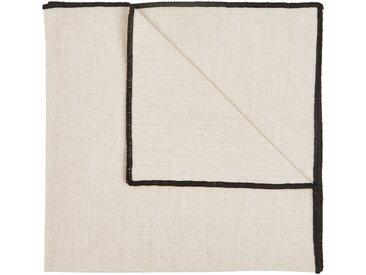 Lot de 2 serviettes de table en coton blanc et noir 41x41cm (prix unitaire : 1.0 euros) Alinéa