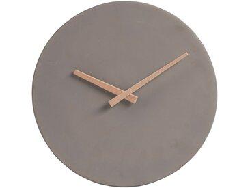 Horloge en ciment taupe aiguilles en bambou D27cm Alinéa
