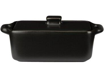 Lot de 2 minis cocotte rectangulaire en grès noir 16cm (prix unitaire : 6.0 euros) Alinéa