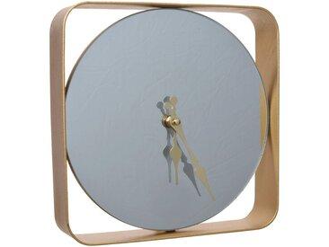 Horloge miroir en fer D24cm Alinéa