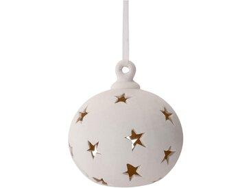 Boule de Noël en porcelaine blanche D8cm Alinéa