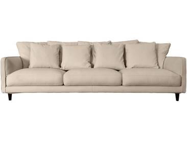 Canapé 6 places fixe en tissu beige roucas Alinéa