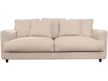 Canapé 3 places fixe en tissu beige roucas Alinéa