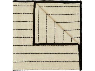 Lot de 2 serviettes de table en coton blanc et noir 41x41cm (prix unitaire : 2.0 euros) Alinéa