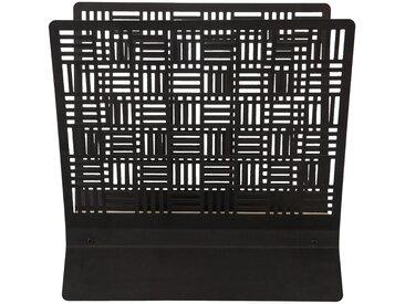Porte-revue en métal noir 35x35x20cm Alinéa