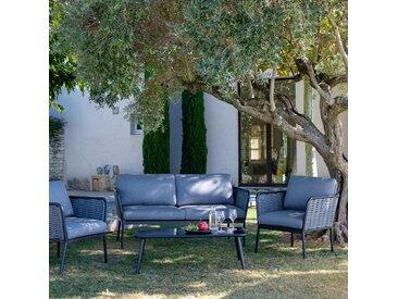 Salon de jardin en aluminium gris (4 places) Alinéa