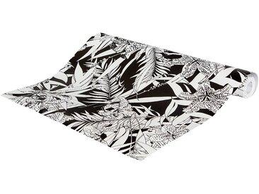 papier peint intissé motif orchidée noir et blanc 53cm x 10m Alinéa