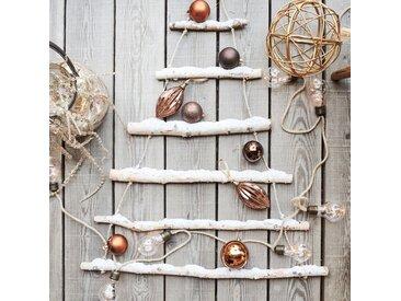 Boule de Noël décorative en fer doré D19,5cm Alinéa