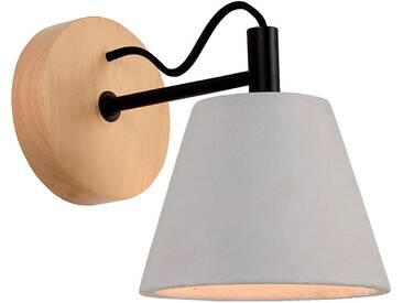 Applique en bois et béton H22cm à 1 lumière Alinéa