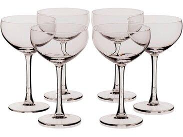 Lot de 6 coupes à champagne en verre transparent 24cl Alinéa