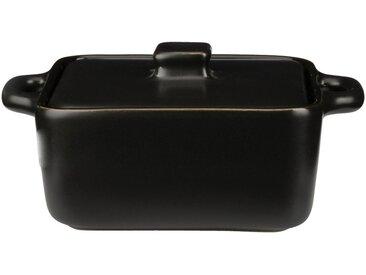 Lot de 2 minis cocotte carrée en grès noir l13,5cm (prix unitaire : 6.0 euros) Alinéa