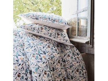 Housse de couette en percale de coton à motifs  240x220cm et 2 taies d'oreillers Alinéa