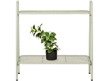 Support plante en acier vert olivier L65xH64,5x29cm Alinéa