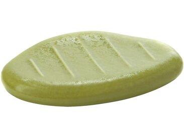 Porte savon vert mate en céramique Alinéa