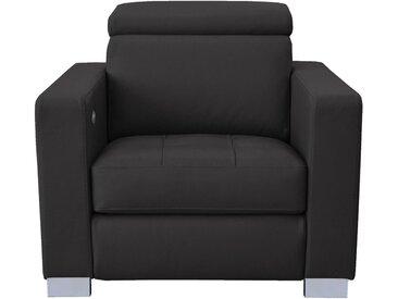 Fauteuil relax électrique en cuir noir Alinéa