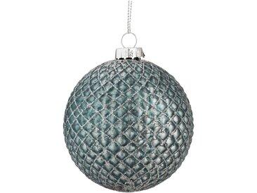 Boule de Noël en verre bleu D8cm Alinéa