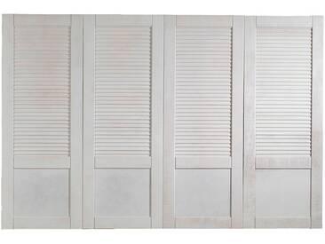 Tête de lit blanche en pin brossé pour lit L140cm et L160cm Alinéa