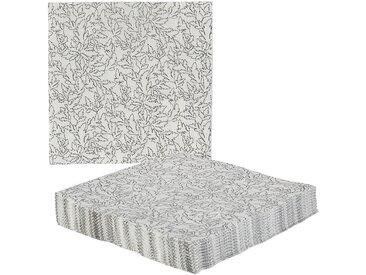 Lot de 20 serviettes en papier blanches à fleurs Alinéa