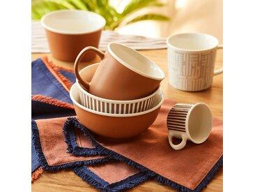 Lot de 2 mugs en porcelaine orange 35cl (prix unitaire : 3.0 euros) Alinéa