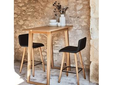 Table haute rectangulaire plaquée chêne - L115cm Alinéa