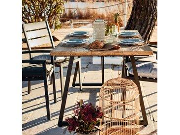 Table de jardin en résine et fer (4 à 6 places) Alinéa