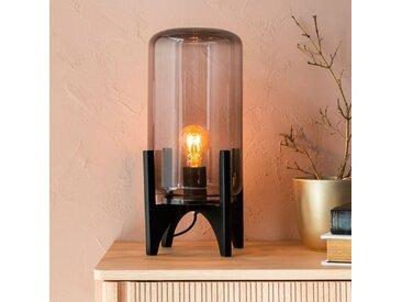 Lampe à poser en verre et bois H41cm Alinéa