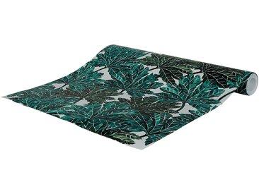 Papier peint intissé motif feuillage vert 53cm x 10m Alinéa