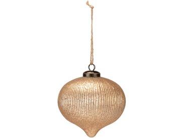 Boule de Noël en verre doré D10cm Alinéa