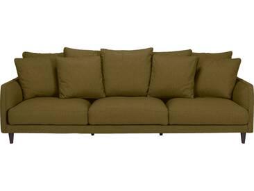 Canapé 4 places fixe en tissu vert cèdre Alinéa