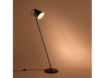 Lampadaire en métal noir H140cm Alinéa