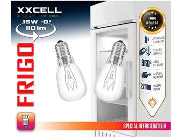 2 ampoules halogènes spécial réfrigérateur culot E14 Alinéa