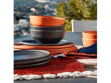 Lot de 2 sets de table en paille rouge 36x48cm (prix unitaire : 5.0 euros) Alinéa