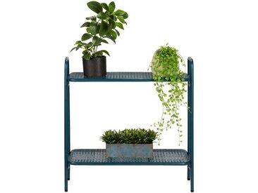 Support plante en acier bleu figuerolles L65xH64,5x29cm Alinéa