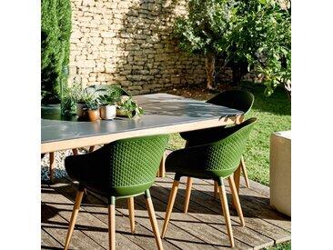 Fauteuil de jardin en eucalyptus vert kaki Alinéa
