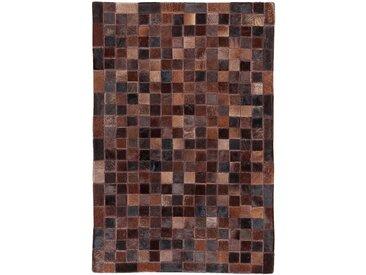 Tapis en cuir marron 200x300cm Alinéa