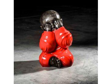 Statue moine de la sagesse grand modèle Rouge 49 cm