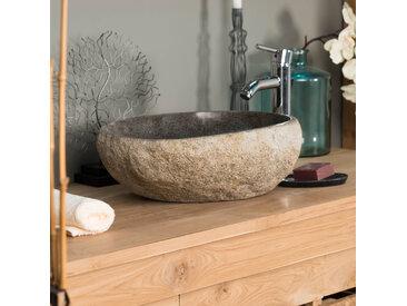 Vasque à poser en pierre naturelle GALET DE RIVIERE 40 cm