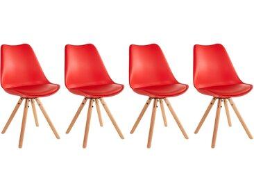 Lot de 4 chaises scandinaves Rita avec coussin